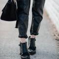 eatsleepwear, outfit, topshop, leather, celine