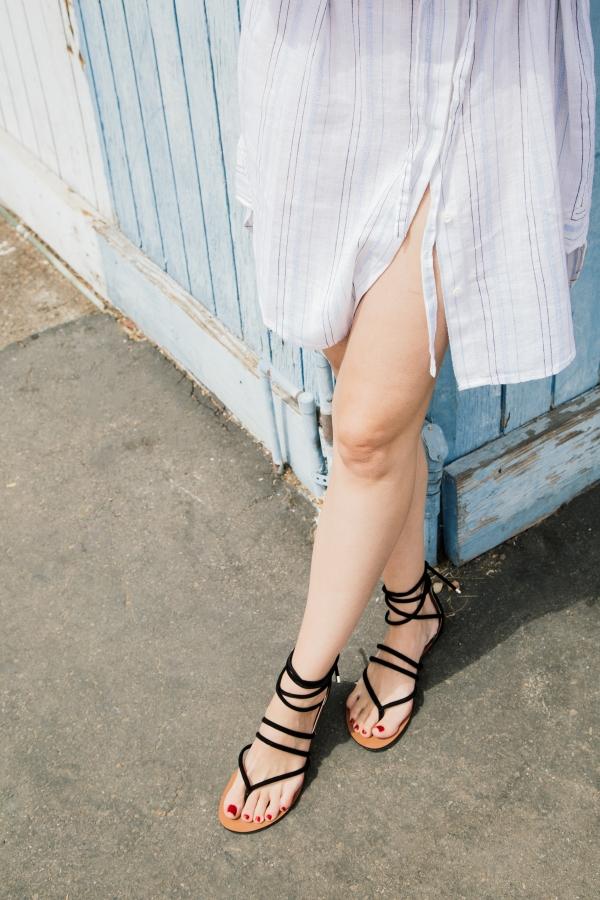 eatsleepwear, Vince Camuto, shirt dress, sandals, Kimberly Lapides