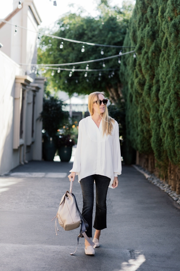 eatsleepwear, outfit, kimberly lapides, elizabeth and james, jbrand, celine, chinese laundry