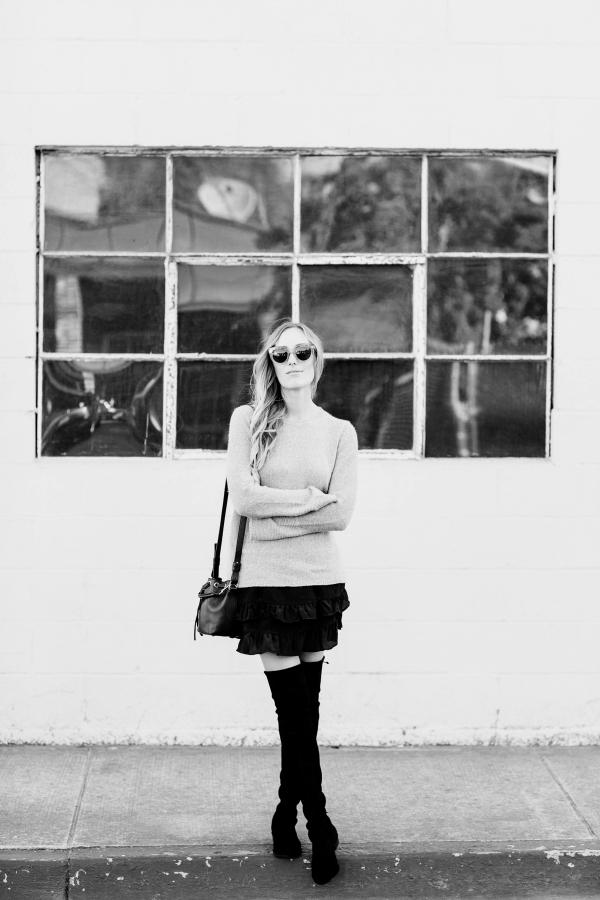 eatsleepwear, Kimberly Lapides, Outfit, 360 Sweater, stuart weitzman, Anine Bing, Celine, Saint Laurent