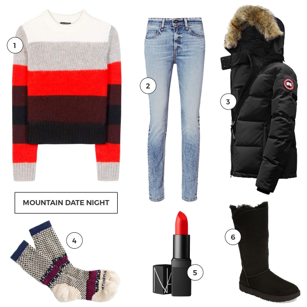 eatsleepwear, kimberly lapides, wishlist, big bear lake, rag and bone, canada goose, jcrew, NARS