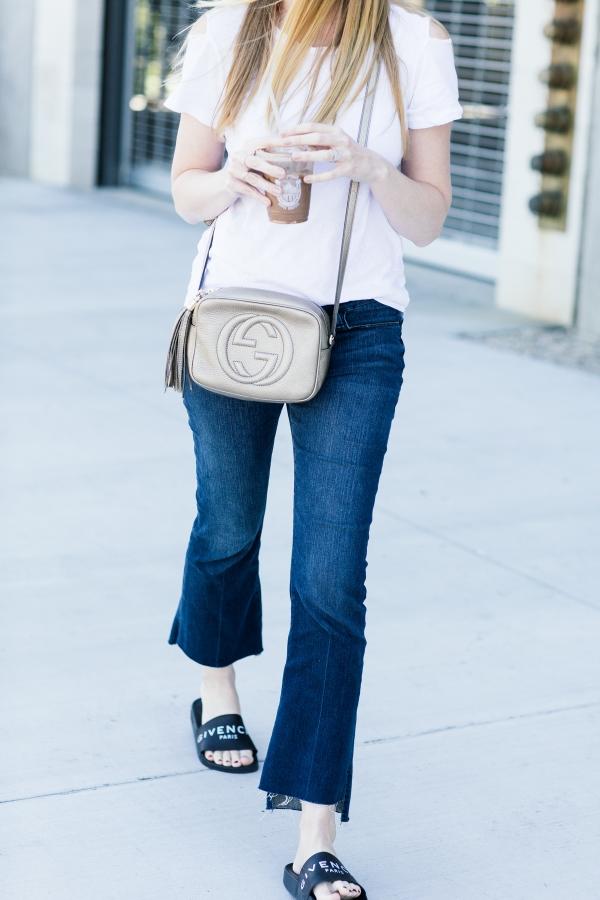 eatsleepwear, Kimberly Lapides, outfit, LNA, frame, givenchy, gucci, rayban