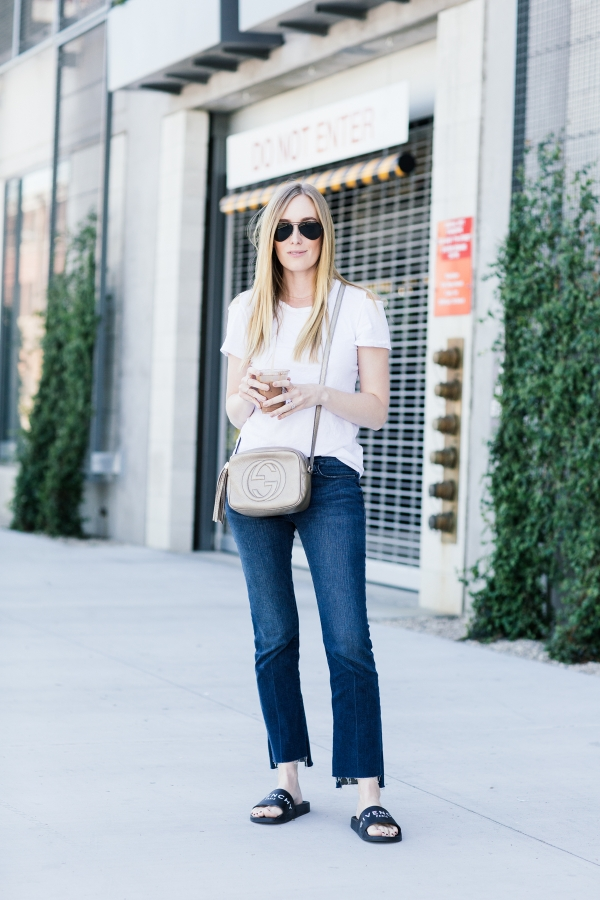 eatsleepwear, Kimberly Lapides, outfit, LNA, frame, givenchy, gucci, rayban