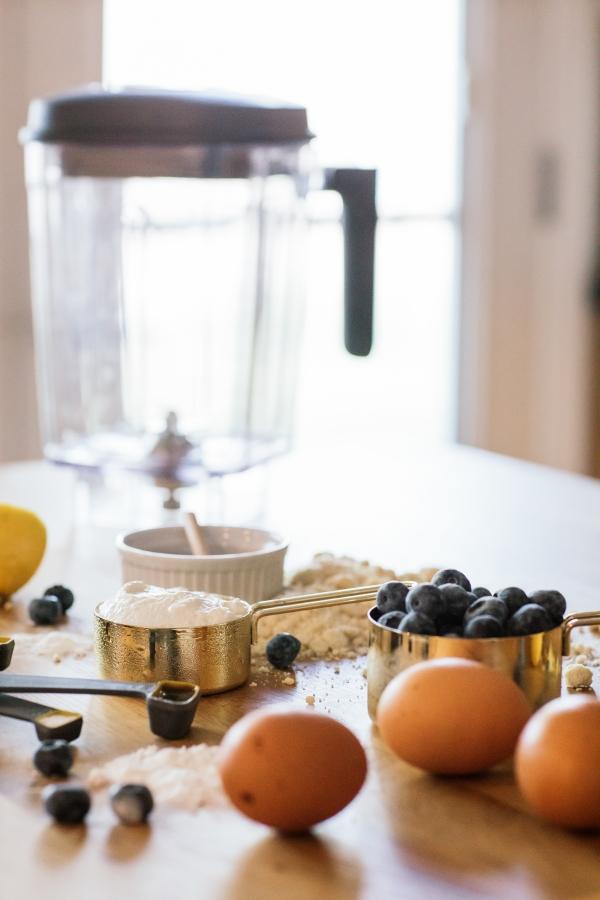 eatsleepwear, Kimberly Lapides, home, recipe, food, kitchenaid blender, blueberry lemon muffins