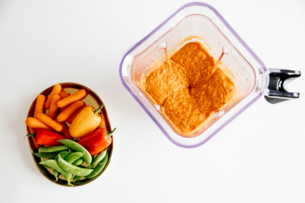 eatsleepwear, Kimberly Lapides, home, recipe, food, kitchenaid, blender, roasted, red pepper, hummus