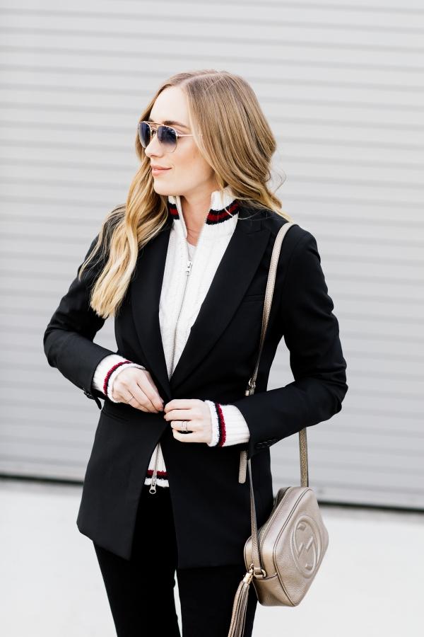 eatsleepwear, Kimberly Lapides, OUTFIT, veronica beard, frame denim, gucci, ray-ban, iro
