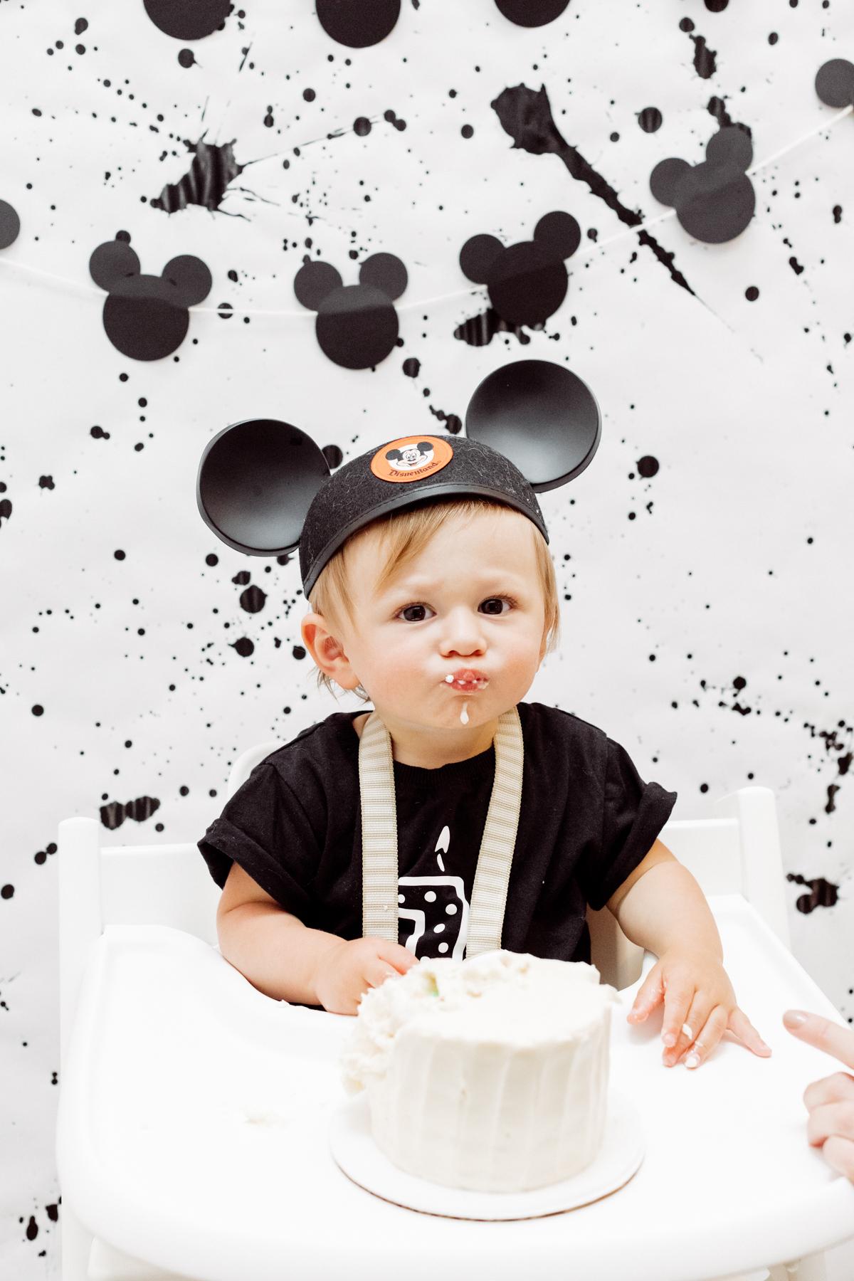 Superb Otis Modern Mickey Mouse First Birthday Party Eat Sleep Wear Funny Birthday Cards Online Aboleapandamsfinfo