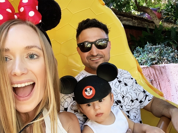 Tips for visiting Disneyland with a newborn baby and 1 year old baby eatsleepwear kimberly lapides