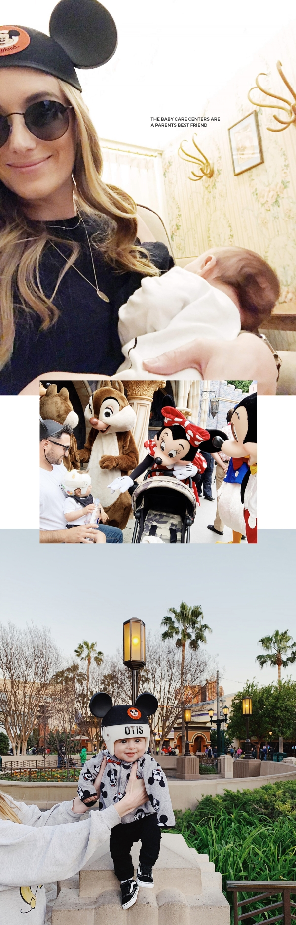 Tips for visiting Disneyland with a newborn baby and 1 year old baby eatsleepwear kimberly lapides baby care center