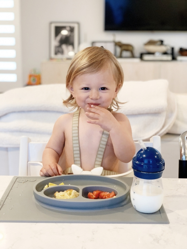 Toddler Feeding Essentials: 18 months featuring stokke tripp trapp highchair, ezpz mat, and oxo tot straw cup for eatsleepwear kimberly lapides