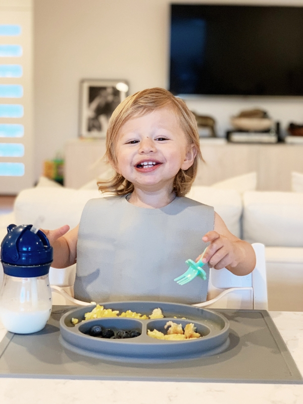 Toddler Feeding Essentials: 18 months featuring stokke tripp trapp highchair, ezpz mat, gathre bib, and oxo tot straw cup for eatsleepwear kimberly lapides