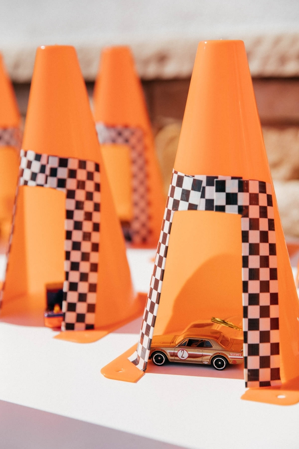 DIY Cozy Cone Motel party favors at Disney Pixar Cars themed birthday