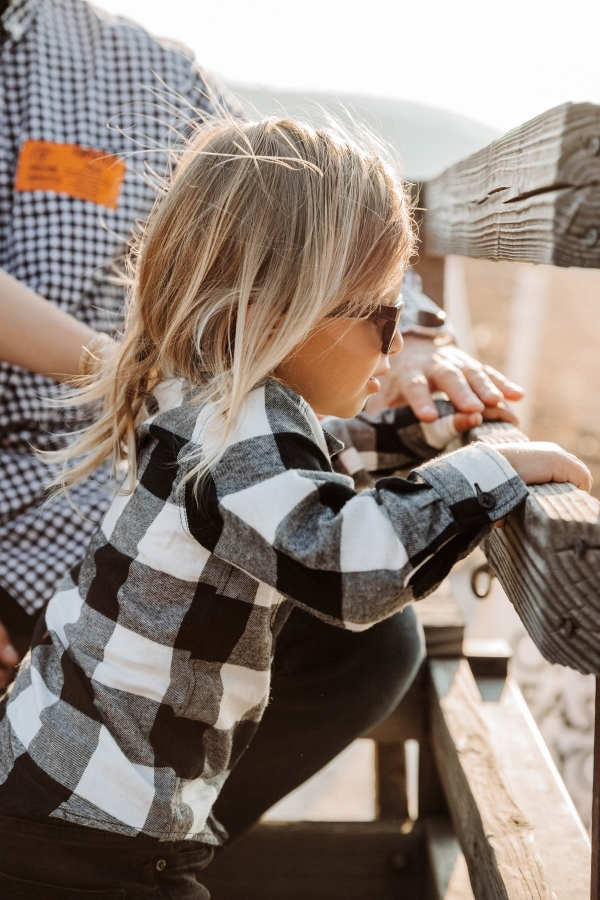 Hayride on tractor at Pumpkin Patch Photo shoot at Tanaka Farms