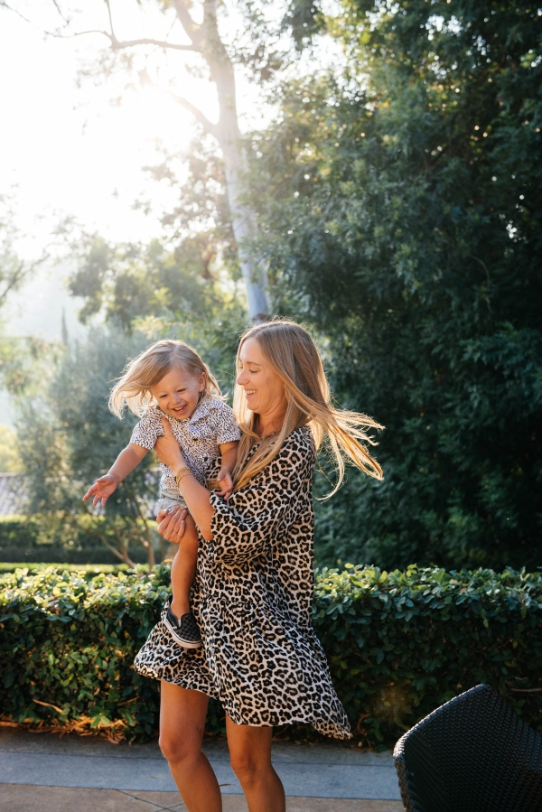 eatsleepwear goes on a family trip with toddler to Rancho Bernardo Inn showing mother and son