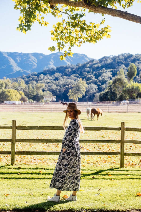 Watching horses at sunset at Alisal Guest Ranch and Resort
