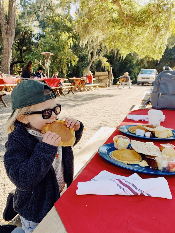 Pancake breakfast at the Old Adobe at Alisal Guest Ranch and Resort
