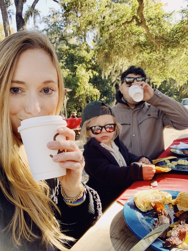 Family at breakfast at the Old Adobe at Alisal Guest Ranch and Resort