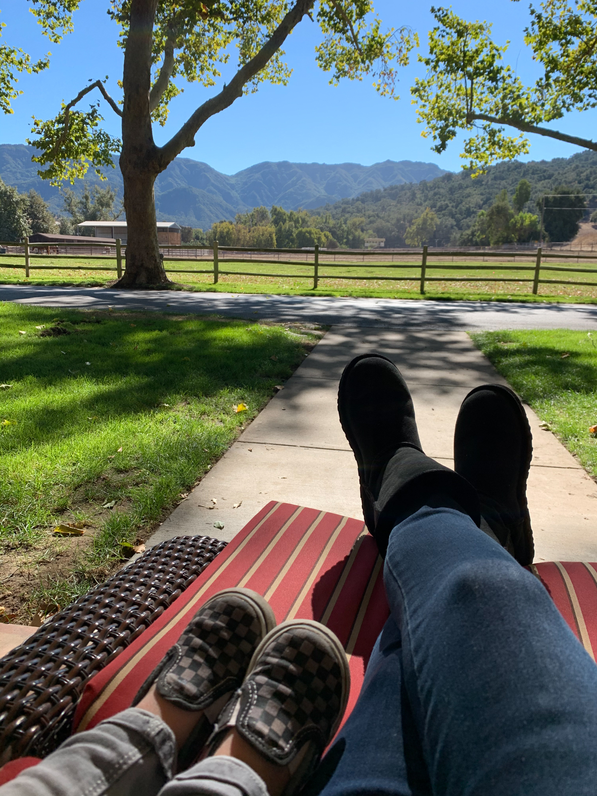 Mother and son at Alisal Guest Ranch and Resort