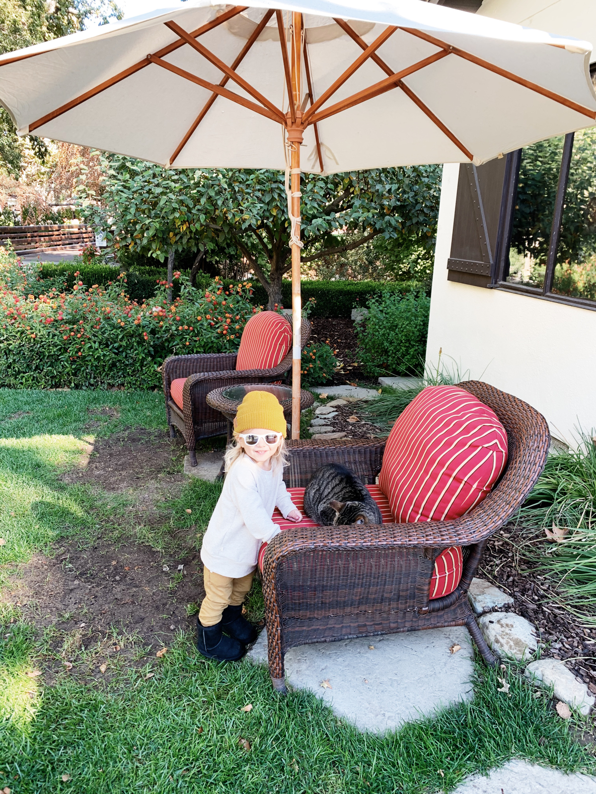 Toddler outside at Alisal Guest Ranch and Resort