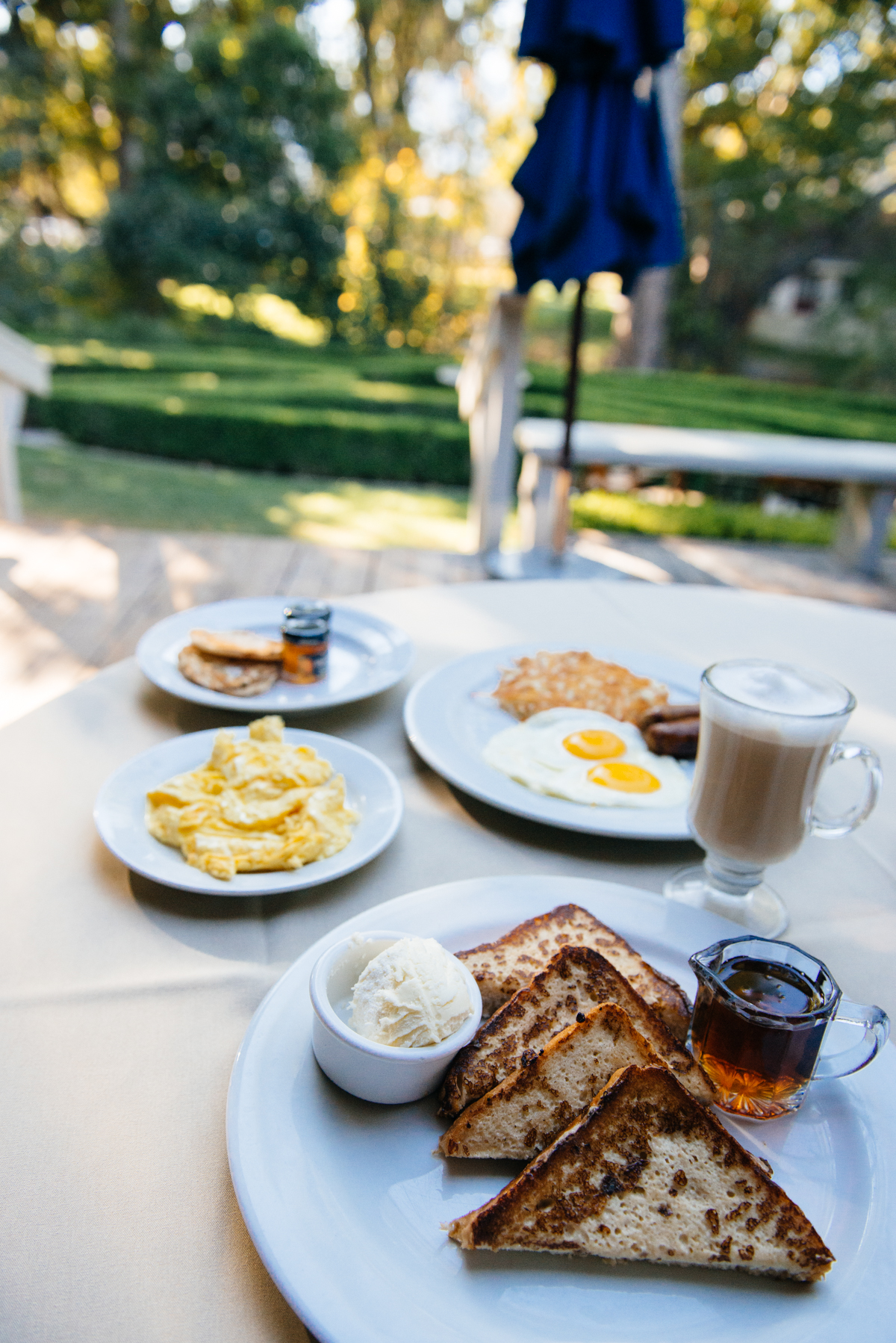 Breakfast outside at Alisal Guest Ranch and Resort