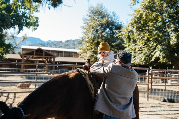 Toddler on horse at Alisal Guest Ranch and Resort